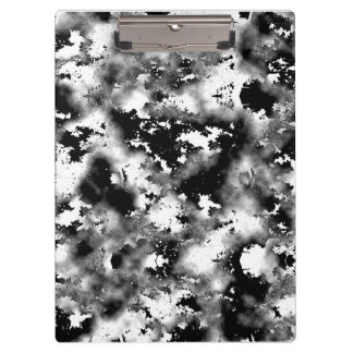 Black And White Spots Clipboard