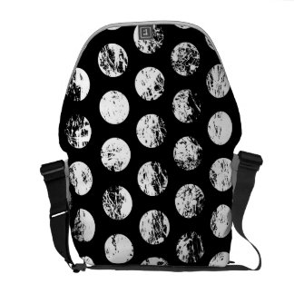 Black and white spots courier bag
