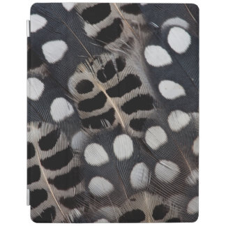 Black And White Spotted Feathers iPad Cover