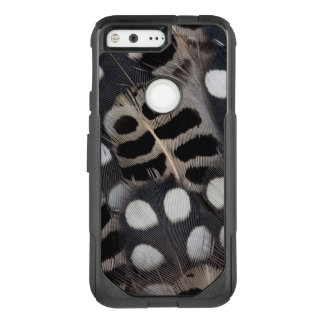 Black And White Spotted Feathers OtterBox Commuter Google Pixel Case
