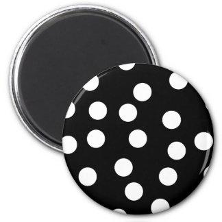 Black and White Spotty Design Fridge Magnet