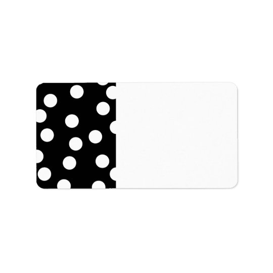 Black and White Spotty Design. Label