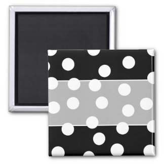 Black and White Spotty Design Refrigerator Magnets