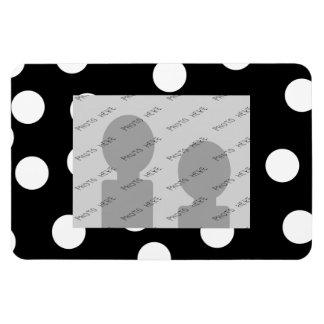 Black and White Spotty Design. Rectangular Photo Magnet