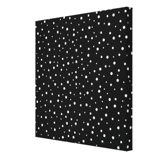 Black and White Spotty Pattern. Stretched Canvas Prints