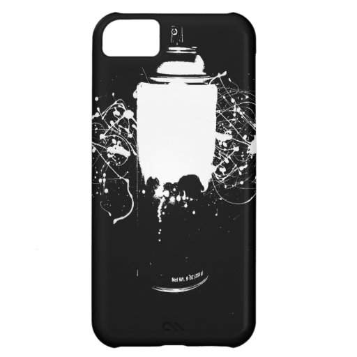 Black and White Spray Paint Can Splatter Art iPhone 5C Cover
