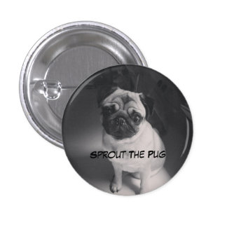 Black and White Sprout on a Button