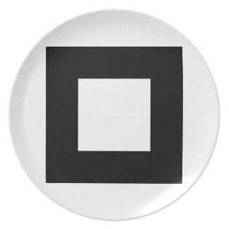 Black and White Square Design. Plate