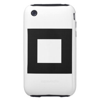 Black and White Square Design. Tough iPhone 3 Case