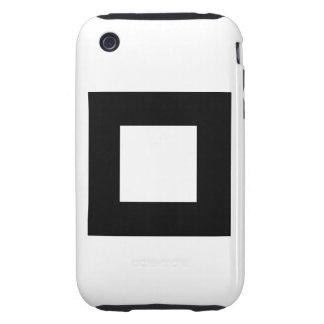 Black and White Square Design. Tough iPhone 3 Case