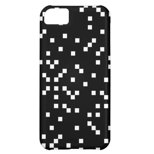 Black and White Square Dots Pattern. Cover For iPhone 5C
