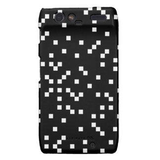 Black and White Square Dots Pattern Motorola Droid RAZR Covers