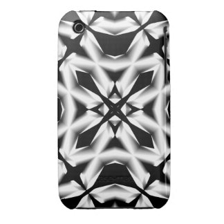 Black and White Square Flower Case iPhone 4/4S iPhone 3 Covers