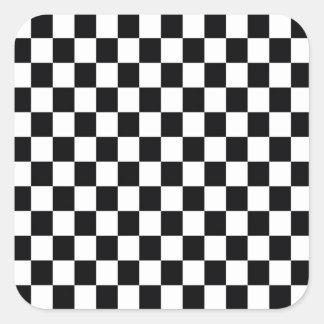 Black and White Square Square Sticker