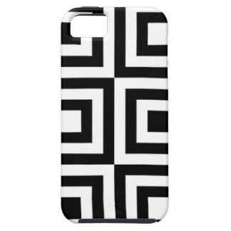 Black and White Square Tile Geometric Op Pattern iPhone 5 Cover