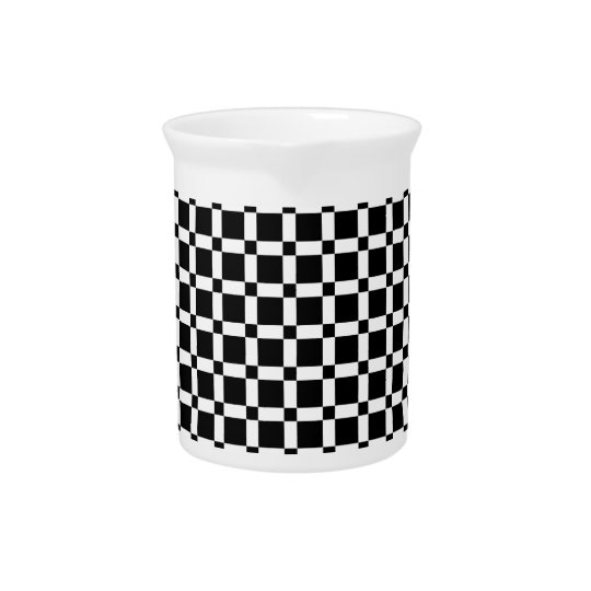 Black and White Square Tile Pitcher