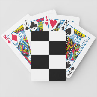 Black And White Squared Design Bicycle Playing Cards