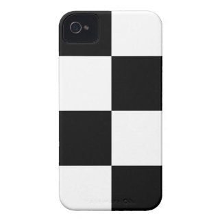 Black And White Squared Design iPhone 4 Case