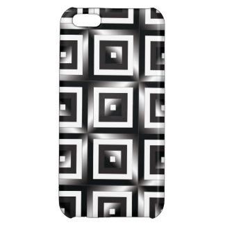 Black and white squares background iPhone 5C cases