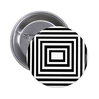 Black and White Squares 6 Cm Round Badge