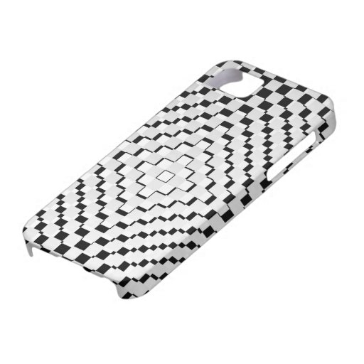 Black and White Squares iPhone 5 Cases