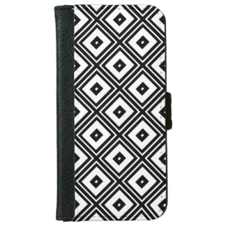 Black and White Squares iPhone 6 Wallet Case