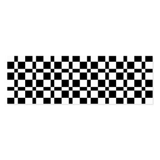 Black and White Squares Pattern Business Card Template
