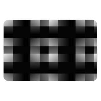Black and white squares rectangular magnets