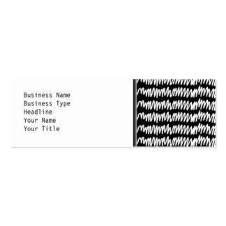 Black and white squiggle pattern. business cards