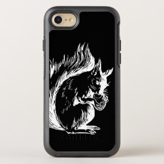Black and White Squirrel Design OtterBox Symmetry iPhone 8/7 Case