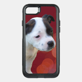 Black And White Staffordshire Bull Terrier Puppy, OtterBox Commuter iPhone 8/7 Case