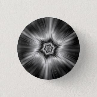 Black and White Star Burst 3 Cm Round Badge