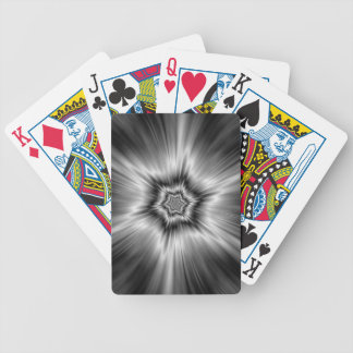 Black and White Star Burst Bicycle Playing Cards