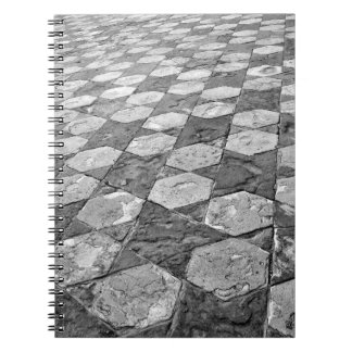 Black and White Star Patterned Notebook