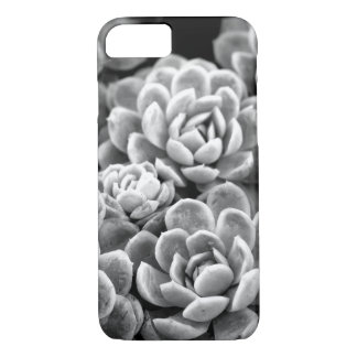 Black and White Star Succulent iPhone 7 Case