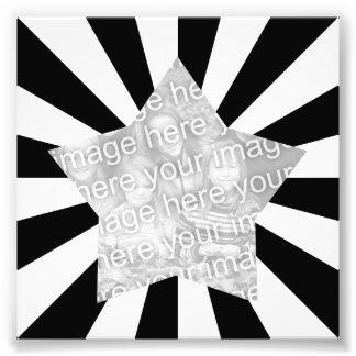 Black and White Starburst Frame Photo Photo