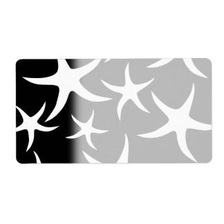 Black and White Starfish Pattern.
