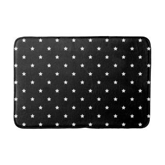Black And White Stars Pattern Bath Mats