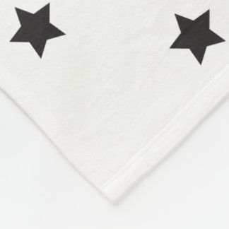 Black And White Stars Pattern Fleece Blanket