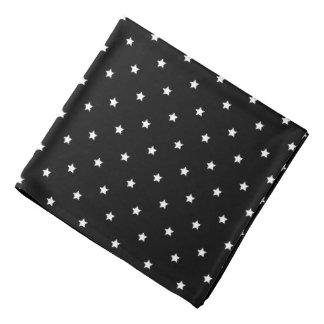 Black And White Stars Pattern Head Kerchief