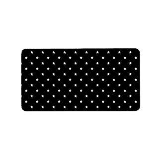 Black and White Stars Pattern. Label