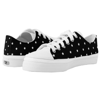 Black And White Stars Pattern Low Tops