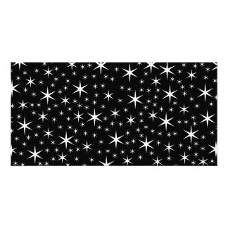 Black and White Stars Pattern. Picture Card