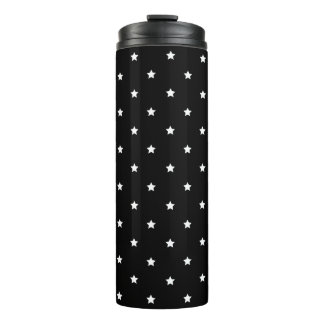 Black And White Stars Pattern Thermal Tumbler