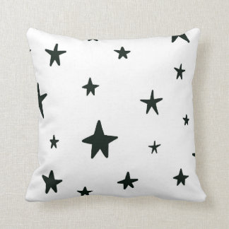 Black and White Stars Pillow