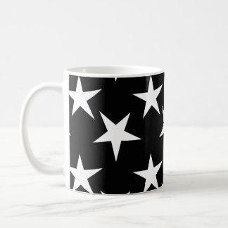 Black and White Stars, Starry Basic White Mug