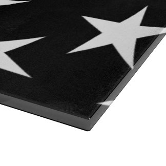 Black and White Stars, Starry Cutting Board