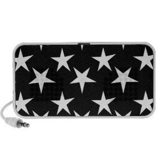 Black and White Stars Starry Mini Speaker