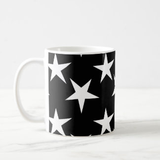 Black and White Stars, Starry Coffee Mug