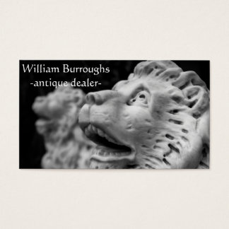 Black and white stone lion business card